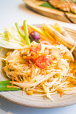 Spicy papaya salad  Som tum  Stock Photos