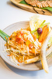 Spicy papaya salad  Som tum  Stock Photography
