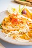 Spicy papaya salad  Som tum  Royalty Free Stock Photos