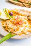 Spicy papaya salad Som tum. With vegetable - Thai food style , Color Filter Processing stock images