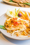 Spicy papaya salad Som tum. With vegetable - Thai food style , Color Filter Processing stock image
