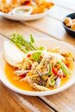 Spicy papaya salad Royalty Free Stock Image