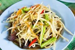 Spicy papaya salad Royalty Free Stock Images