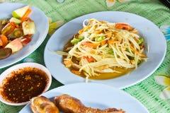 Spicy papaya salad, Royalty Free Stock Images