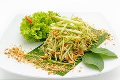 Spicy papaya salad Thai style Royalty Free Stock Photo