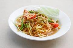 Spicy papaya salad Stock Images