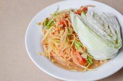 Spicy Papaya Salad Royalty Free Stock Photos