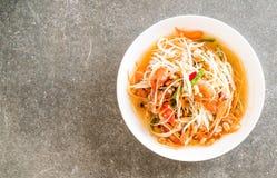 Spicy papaya salad (Traditional Thai food) Royalty Free Stock Photos