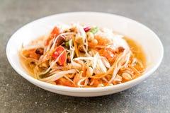 Spicy papaya salad (Traditional Thai food) Royalty Free Stock Photography