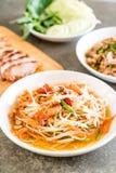 Spicy papaya salad (Traditional Thai food) Stock Images