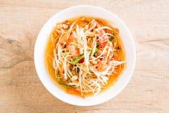 Spicy papaya salad (Traditional Thai food) Royalty Free Stock Image