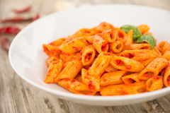 Spicy pasta Royalty Free Stock Image