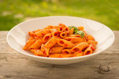 Spicy pasta Royalty Free Stock Images