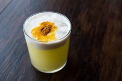 Spicy Pisco Sour Cocktail made with Lime juice, Egg White and Peruvian Grape Schnaps. Beverage Concept Stock Image