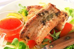 Spicy pork belly slices Stock Photo