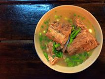 Spicy pork bone soup in Bangkok Royalty Free Stock Photo