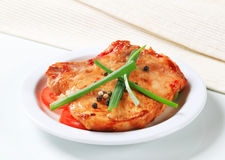 Spicy pork cutlet Royalty Free Stock Image
