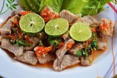 Spicy pork lemon Stock Photos