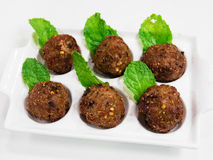 Spicy pork mince balls Royalty Free Stock Photo