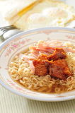Spicy pork noodle Stock Photos