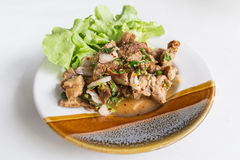 Spicy pork salad food of thailand Royalty Free Stock Image
