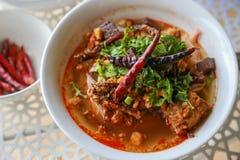 Spicy pork sauce. Thai food Royalty Free Stock Photos