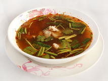 Spicy pork spare rib soup Stock Images