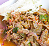 Spicy pork,Thai food.  Royalty Free Stock Photography