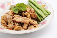 Spicy pork with vegetables. Thai style food Royalty Free Stock Images