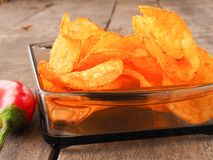 Spicy potato chips Royalty Free Stock Image