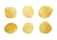 Spicy potato crisps isolated Stock Photos