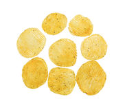 Spicy potato crisps Stock Images