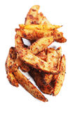 Spicy potato wedges Royalty Free Stock Photography
