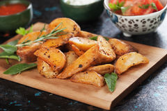 Spicy potato wedges Royalty Free Stock Photo