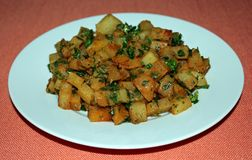 Spicy Potatoes. Spicy Oven-Roasted Potatoes is a Lebanese dish stock image