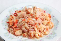 Spicy prawn salad Royalty Free Stock Images
