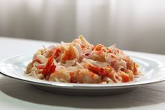 Spicy prawn salad Royalty Free Stock Photos