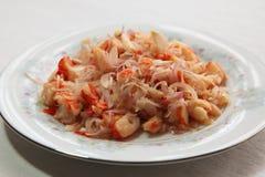 Spicy prawn salad Stock Photos