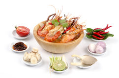 Spicy prawn soup (Tom Yum Kung) Royalty Free Stock Image