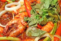 Spicy prawns Royalty Free Stock Photo