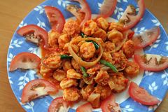 Spicy prawns Royalty Free Stock Images