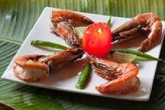 Spicy Prawns fry from India Stock Image