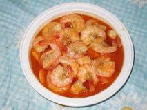 Spicy prawns Royalty Free Stock Photo