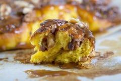 Spicy pumpkin bun. Royalty Free Stock Image