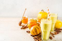 Spicy pumpkin smoothie stock photo