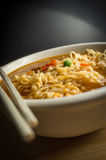 Spicy Ramen Noodle Soup Royalty Free Stock Images