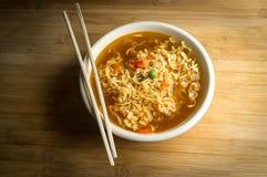 Spicy Ramen Noodle Soup Royalty Free Stock Photos