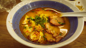 Spicy Ramen Stock Photo