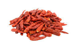 Spicy red birds eye chilli peppers Royalty Free Stock Photo