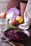 Spicy red cabbage stewed with apples and blackcurrant Stock Images